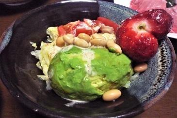 アボカドイチゴサラダ
