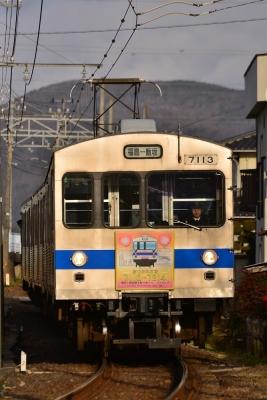 2018年1月19日 福島交通飯坂線 上松川~泉 7000系7113-7315-7214編成
