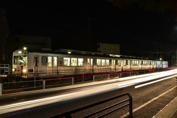 2018年1月19日 福島交通飯坂線 上松川 7000系7113-7315-7214編成