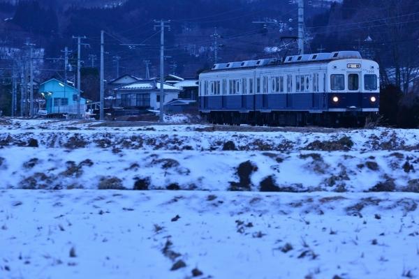 2018年1月24日 上田電鉄別所線 八木沢~舞田 7200系7255編成