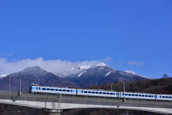 2018年1月25日 JR東日本中央本線 信濃境~富士見 189系M50編成