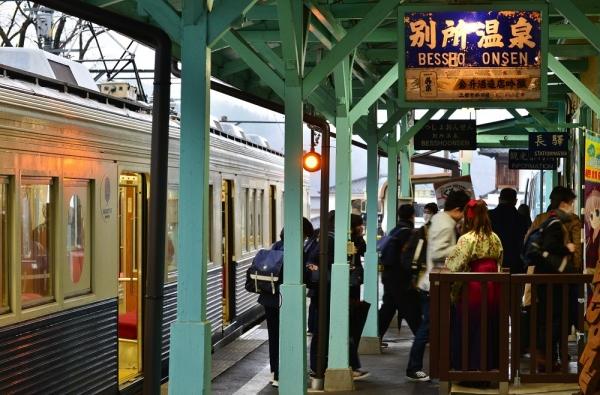 2018年3月5日 上田電鉄別所線 別所温泉 7200系7255編成