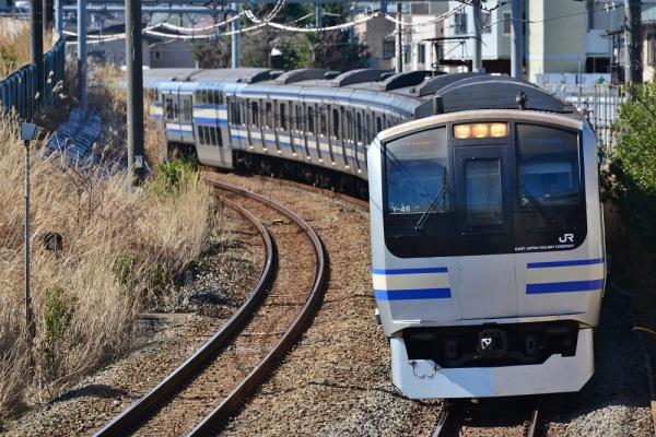 2018年3月12日 JR東日本横須賀線 横浜~新川崎 E217系クラY-45編成