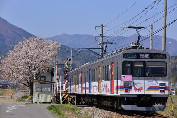 2018年4月10日 上田電鉄別所線 中野~舞田 1000系1002編成