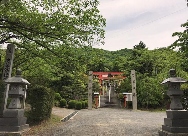 木華佐久耶比咩神社 正面から拝殿を望む
