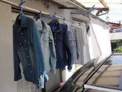 デニムのシャツなど洗濯20180525