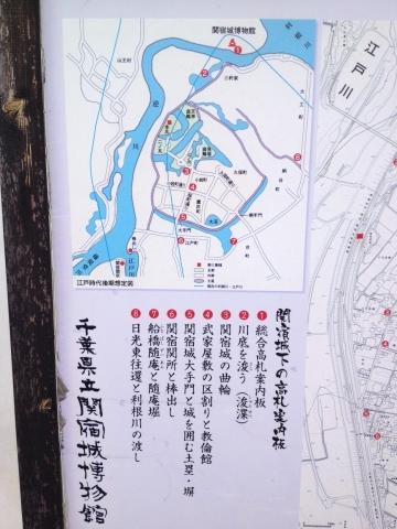 関宿城配置図。