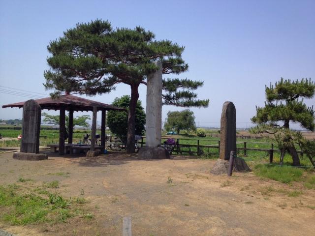 菖蒲城址碑。