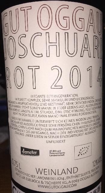 Gut Oggau Joschuari Rot 2014 part2