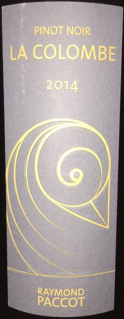 La Colombe Pinot Noir Raymond Paccot 2014 part1