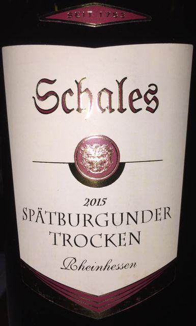 Schales Spatburgunder Trocken Rheinhessen 2015 part1