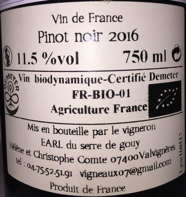 Du Bout Des Doigts Pinot Noir Les Vigneaux 2016 part2