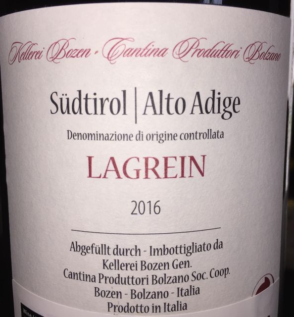 Lagrein Sudtiro Alto Adige Cantina Produttori Bolzano 2016 part2