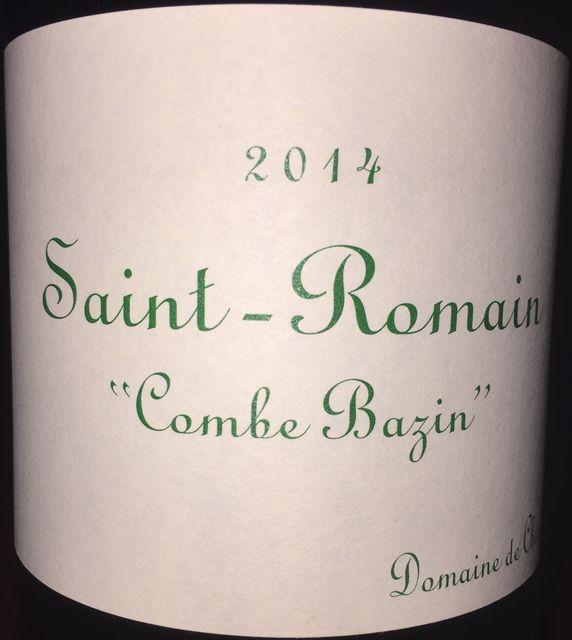 Saint Romain Combe Bazin Domaine de Chassorney 2014