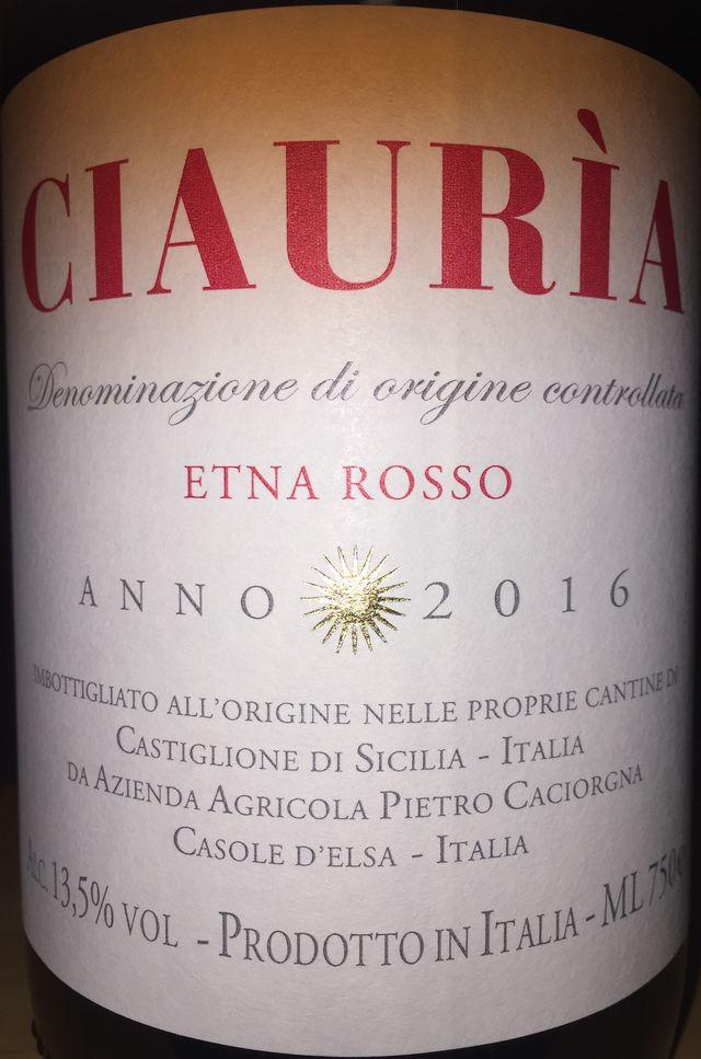 Ciauria Etona Rosso 2016