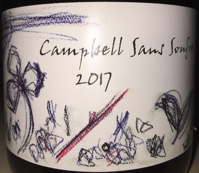 Campbell Sans Soufre Sapporo Fujino Winery 2017