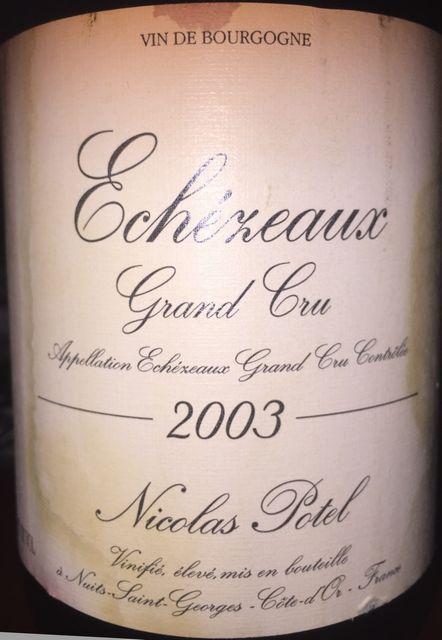 Echezeaux Grand Cru Nicolas Potel 2003
