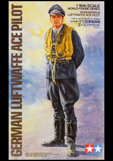 TAMIYA_1/16scale_German Luftwaffe Ace Pilot_箱絵