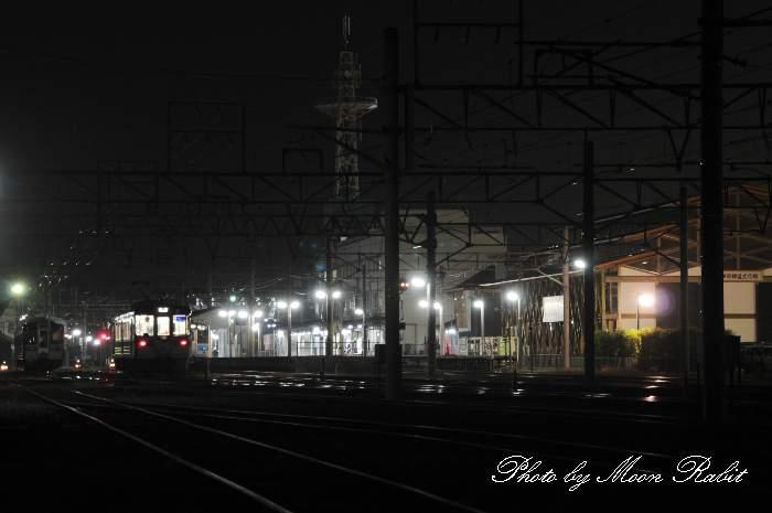 夜の伊予西条駅 愛媛県西条市大町