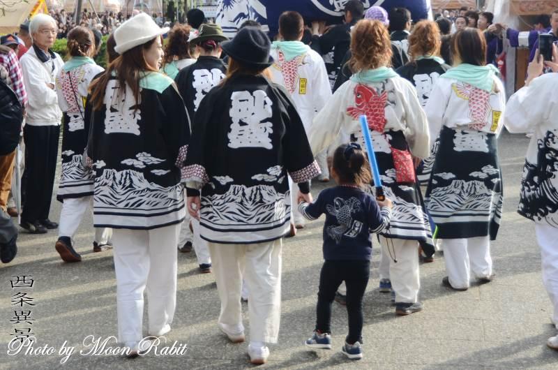 砂盛町だんじり(屋台) 祭り装束