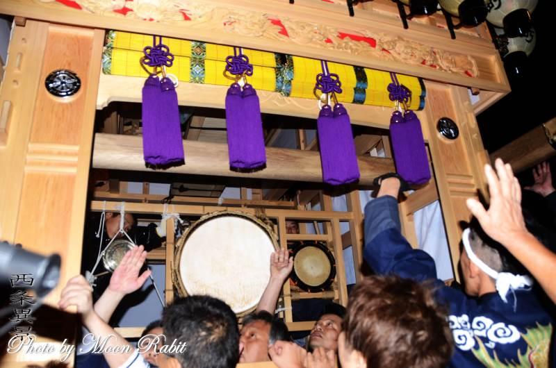 新調錦町屋台(錦町だんじり) 祭り太鼓 西条祭り 伊曽乃神社祭礼 愛媛県西条市