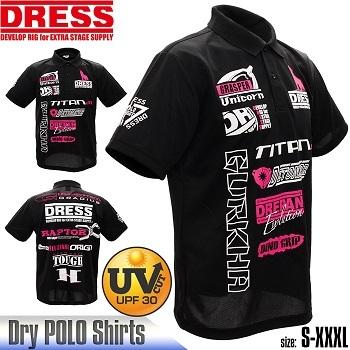 DRESS ポロシャツ2018 ブラック