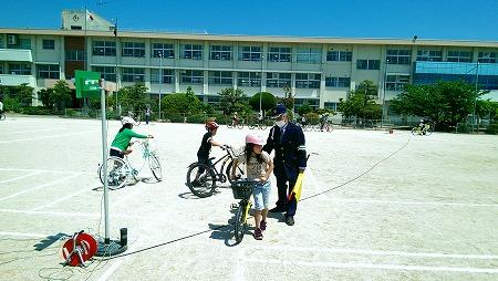交通安全教室 自転車の乗り方