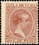 キューバ・1894年(20センタヴォ)