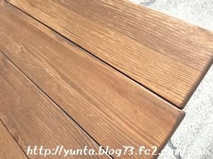 我が家の木製テーブルの感じ☆