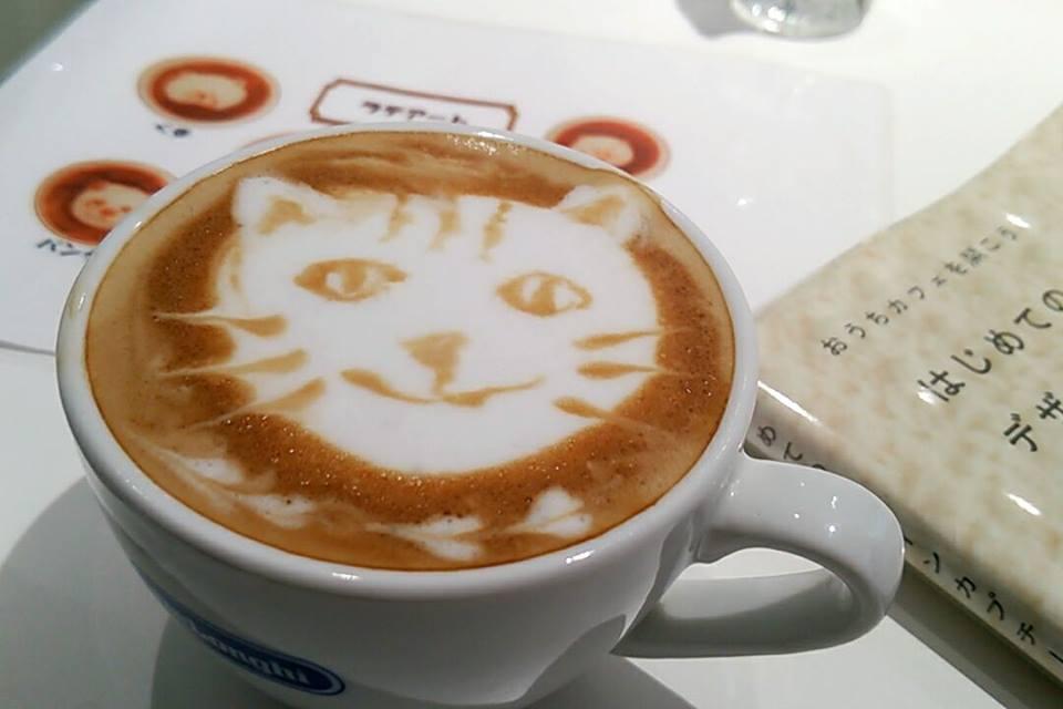 ラテアート貓