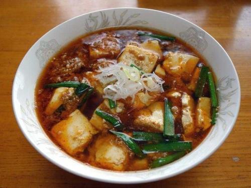 三川豆腐の麻婆麺