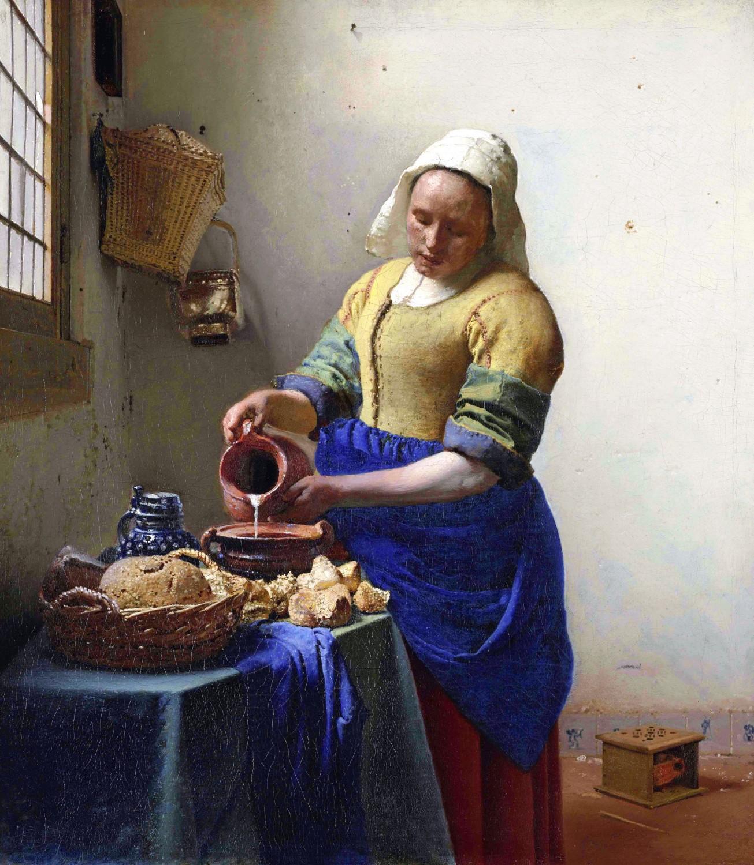 フェルメール「牛乳を注ぐ女」