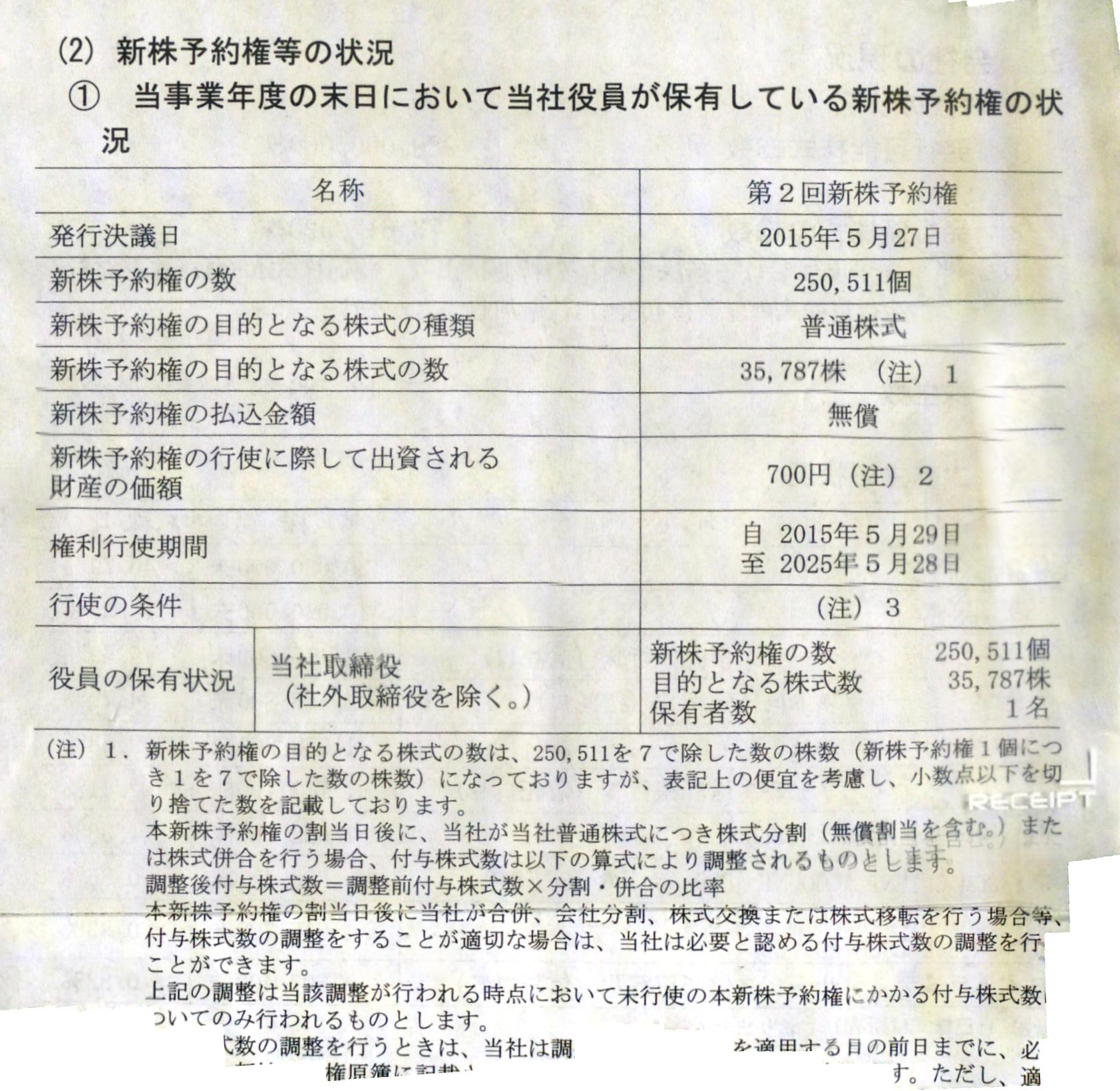 ベルシステム24役員株価報酬