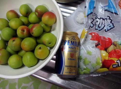 梅のビール甘露煮